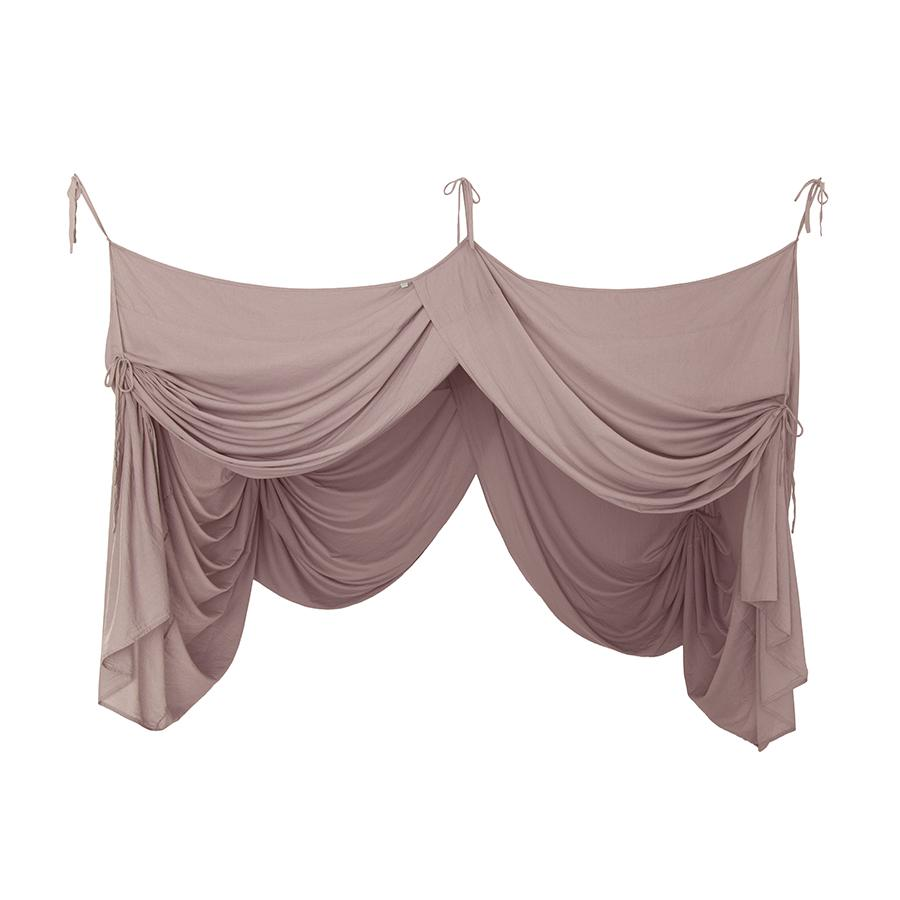 "Bed Canopy ""Bed Drape Double Dusty Pink"""