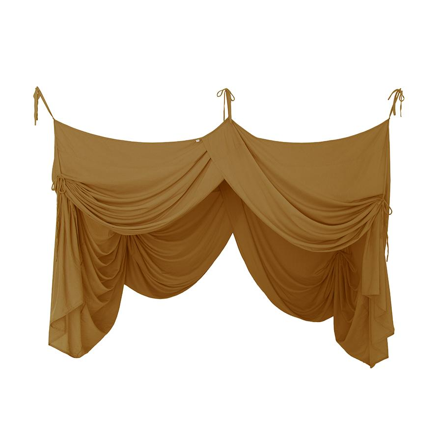 "Bed Canopy ""Bed Drape Single Gold"""