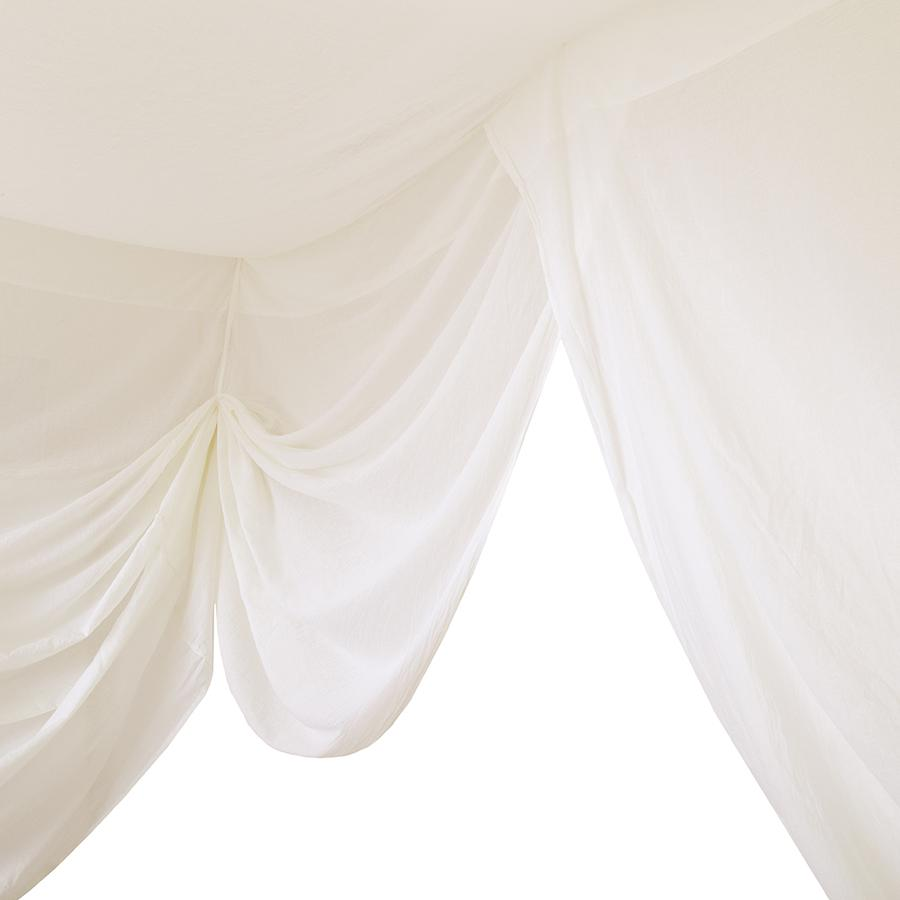 "Bed Canopy ""Bed Drape Single Natural"""