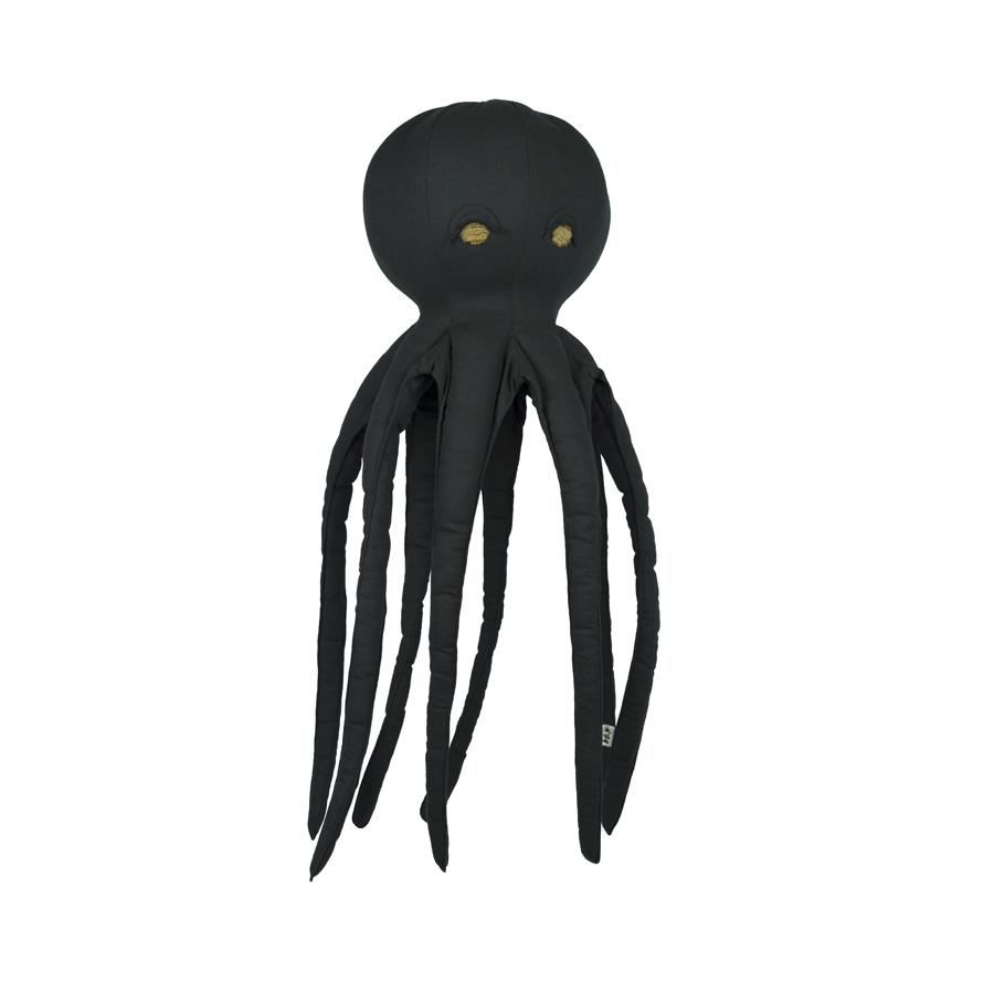 "Cushion ""Freddy Octopus Dark Grey"""