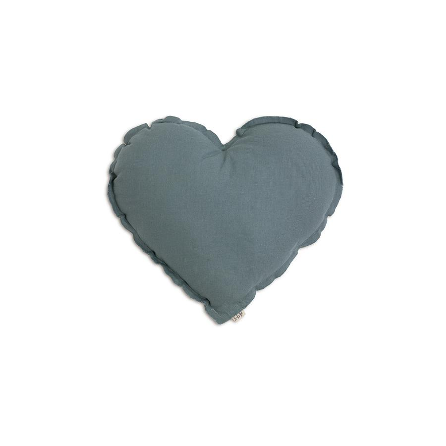 "Cushion ""Heart Ice Blue"""
