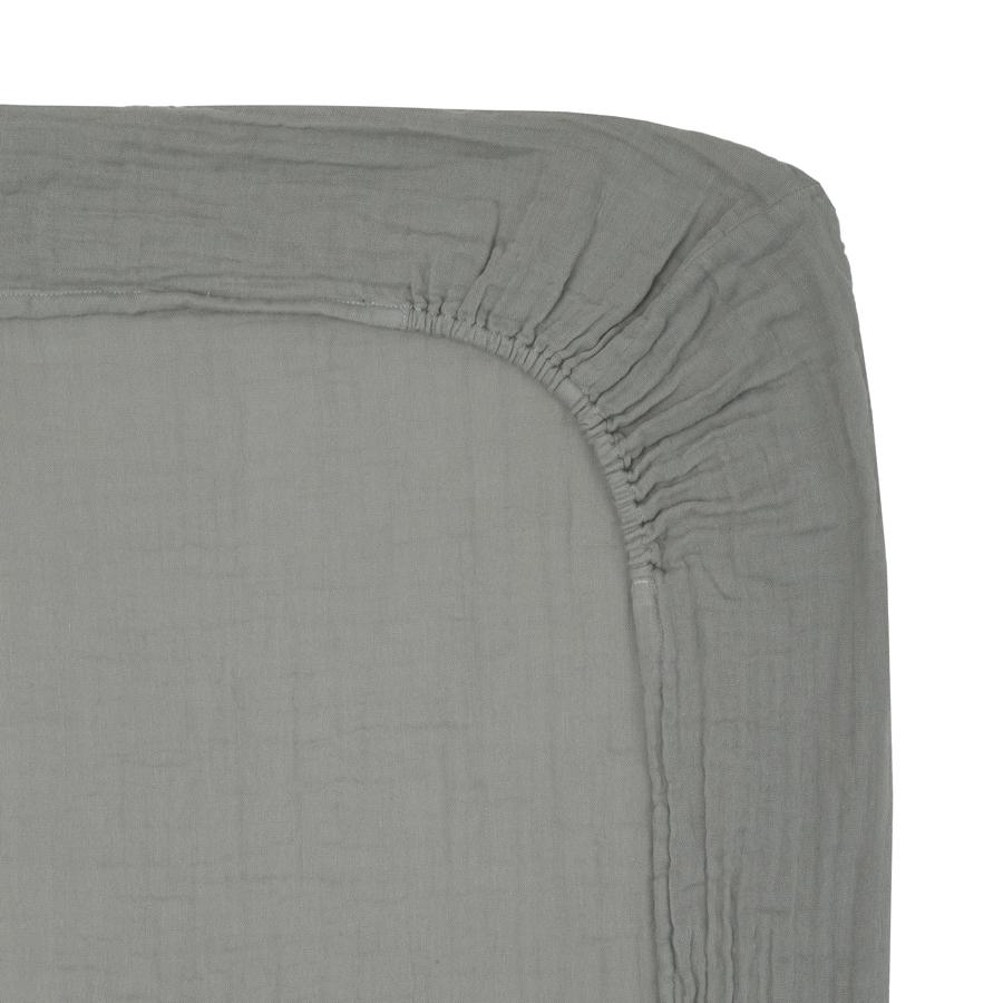 "Fitted Changing Pad Cover ""Silver Grey"""