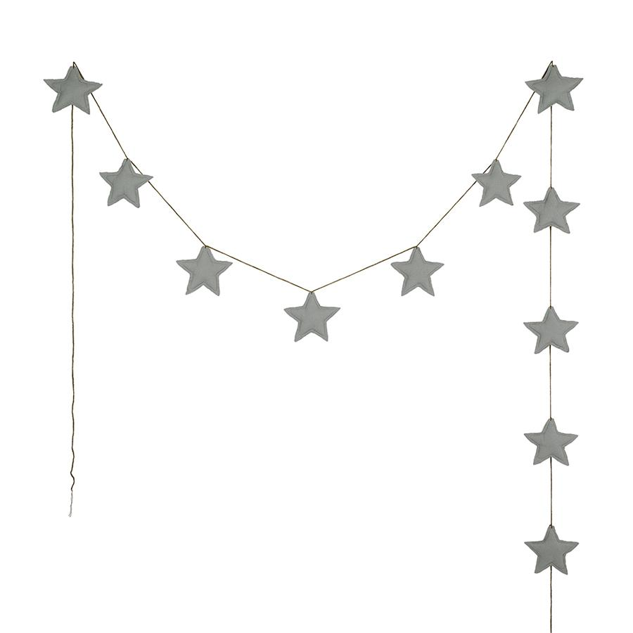 "Garland ""Mini Star Silver Grey"""