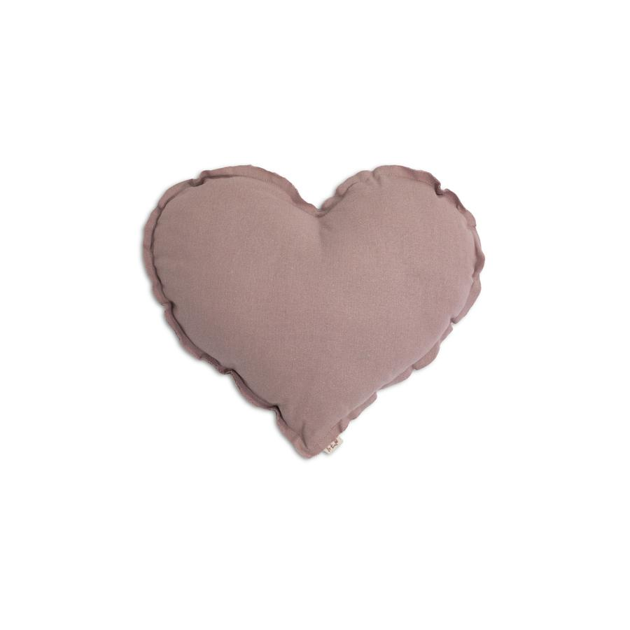 "Cushion ""Heart Dusty Pink"""
