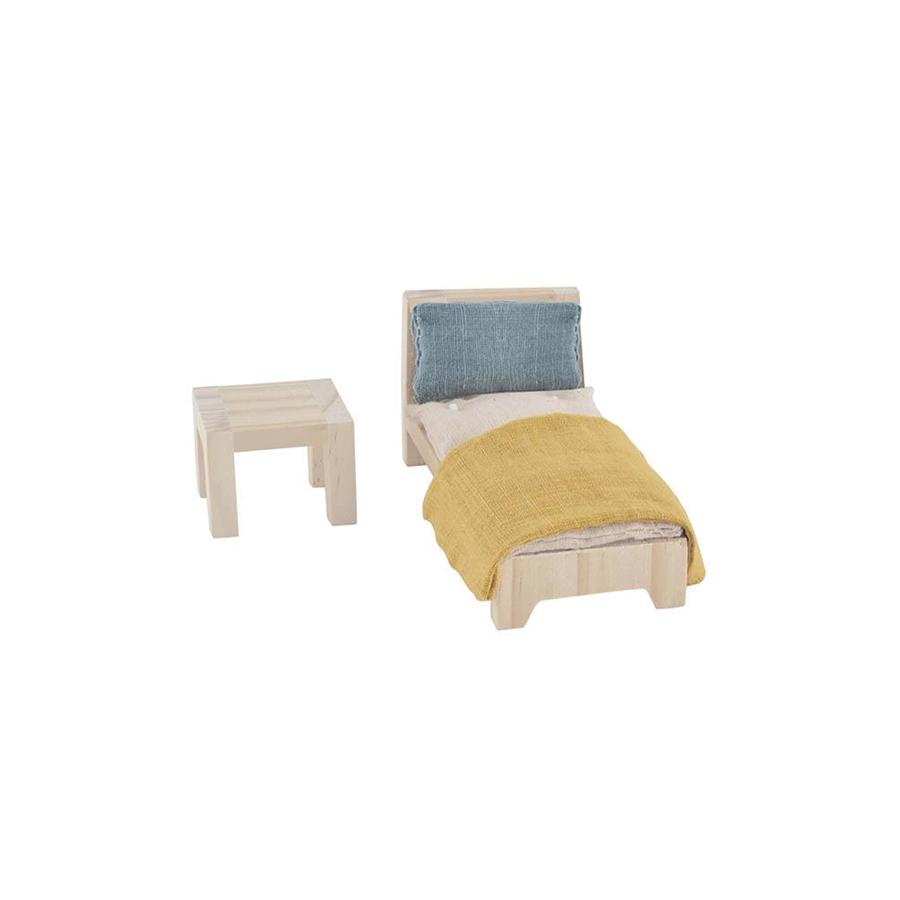 "Dollhouse Furniture ""Holdie Single Bed Set"""
