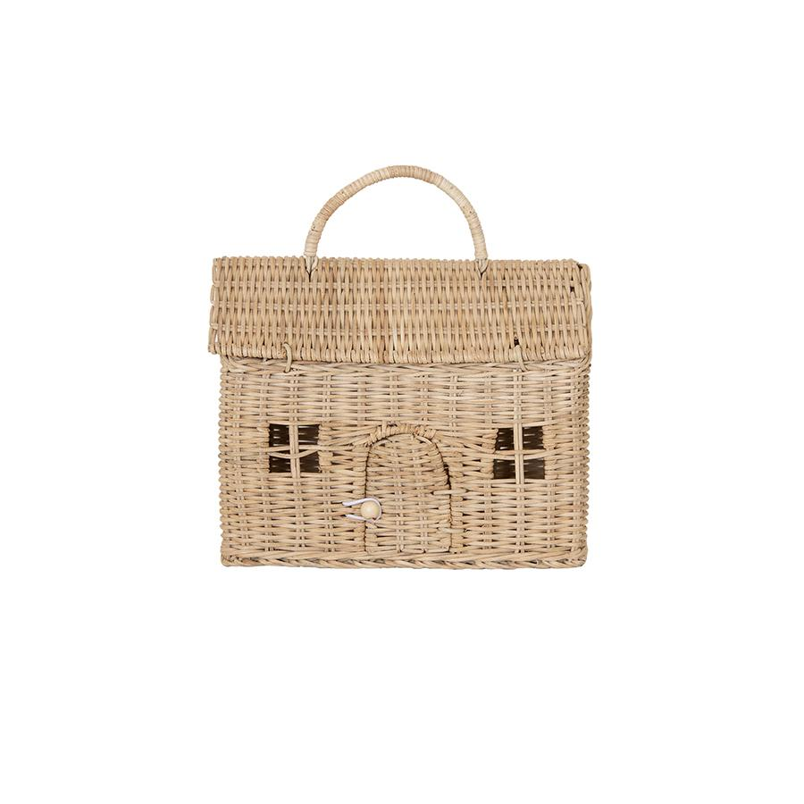 "Dollhouse Basket ""Casa Clutch Straw"""