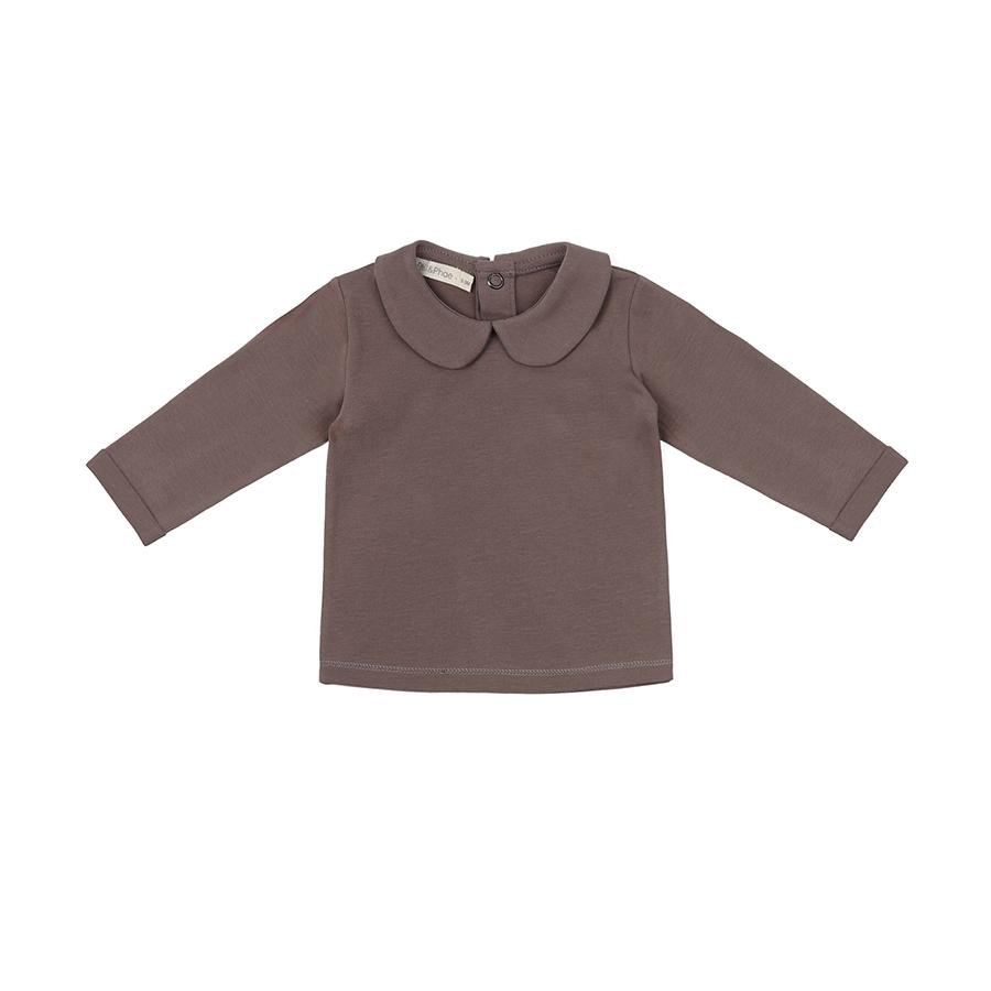 "Long-sleeve Shirt ""Baby Heather"" with collar"