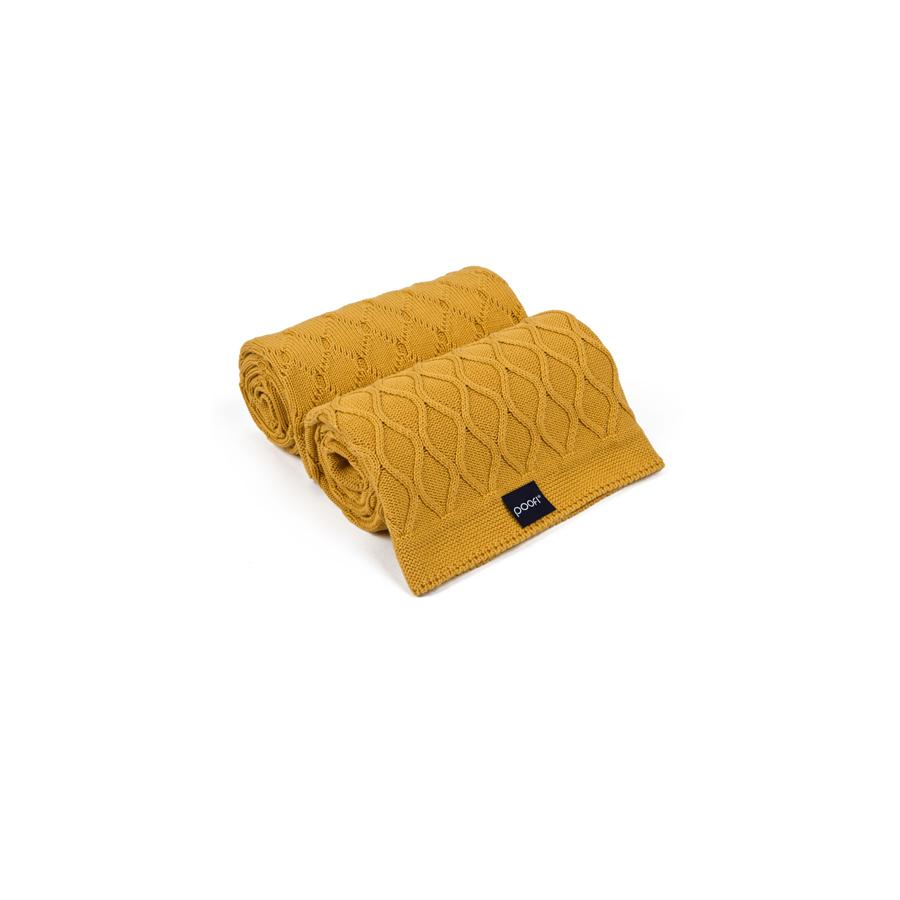"Knitted Blanket ""Double Knit Honey"""