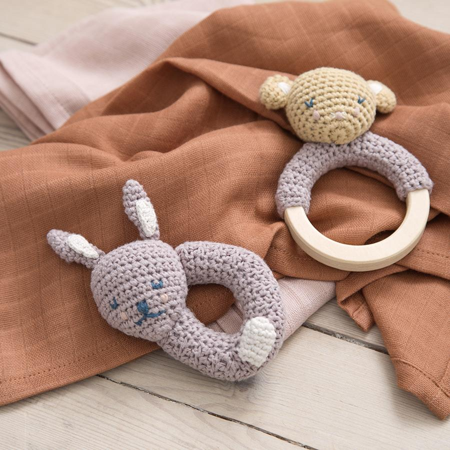 "Baby Rattle ""Crochet Bluebell the Bunny"""