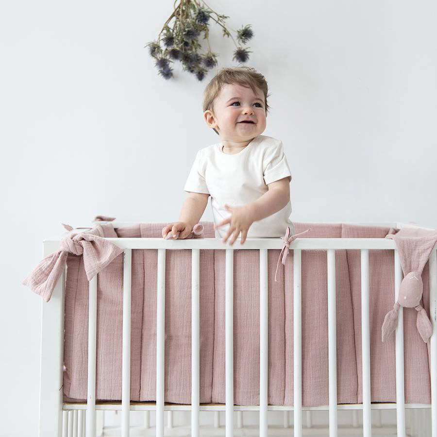 "Playpen guard ""Bliss Rose"""