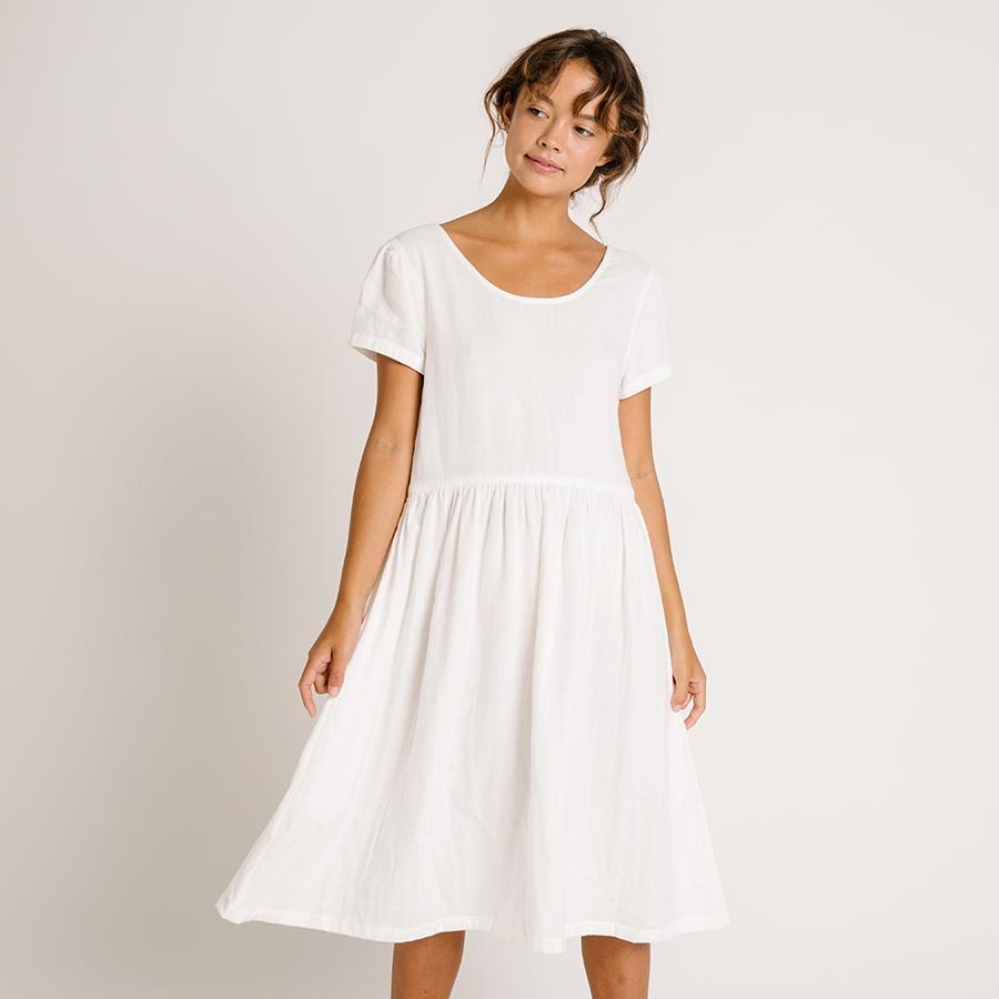 "Shortsleeve Dress ""Linden Ivory"""