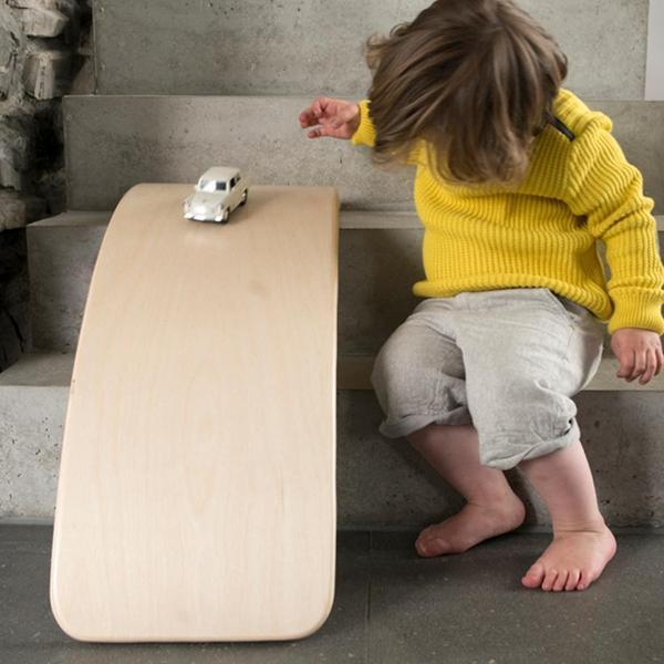 "Balance Board ""Wobbel Original Transparent without Felt"""