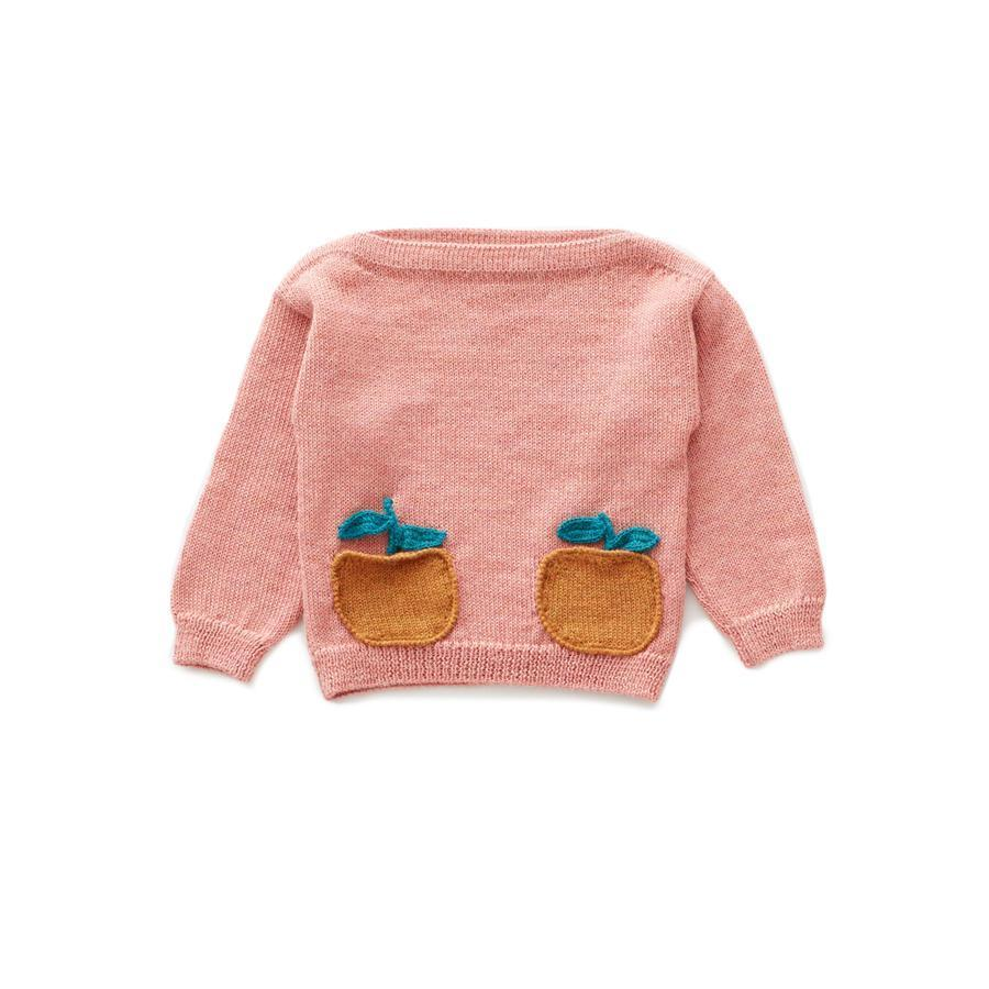"Wool sweater ""Pocket Clementine / Peony"""
