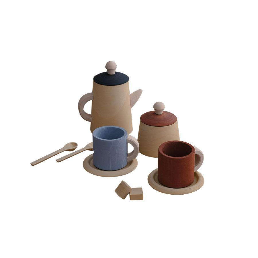 "Wooden Toy ""Tea Set Terra/Blue"""