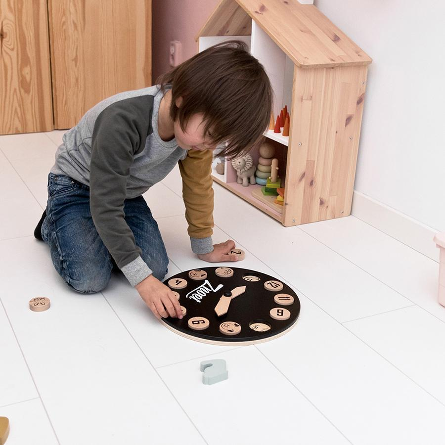 "Wooden Clock Toy ""Learning Play Clock"""
