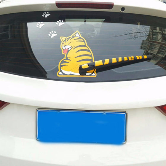 Funny Cat Moving Tail Window Wiper