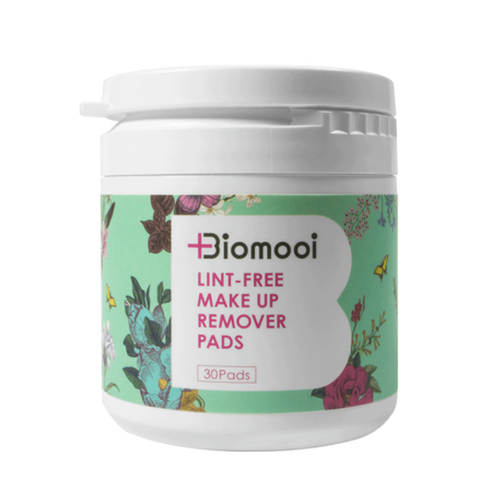 Biomooi Lint Free Make Up <br>Remover Pads 30 Pack</br>