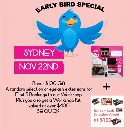 Volume Eyelash Extension Workshop <br>Sydney<br>Linfield NOVEMBER 22nd<br/>