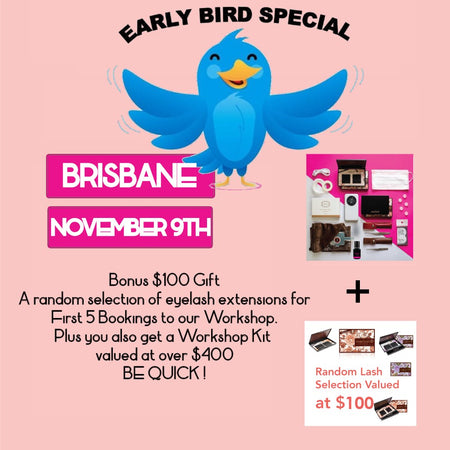 Eyelash Extension Workshop <br>Brisbane<br>STAFFORD November 9th<br/>