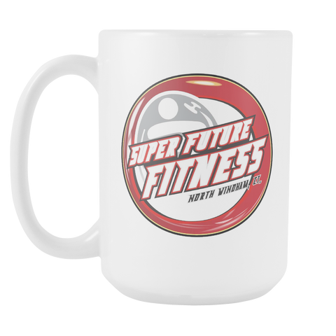 Super Future Fitness Coffee Mug - Original Logo White