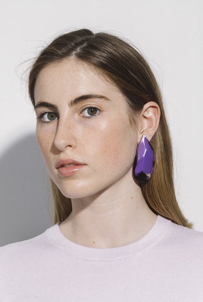 Purple Mussels Earrings