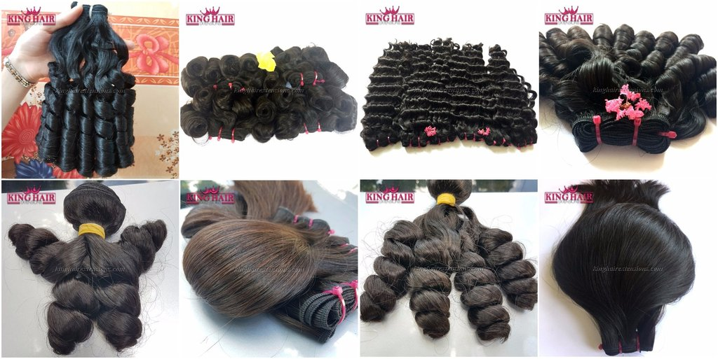 Many kind of hair extensions from King Hair for your choice