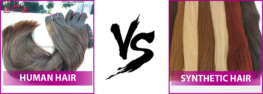Human hair extensions vs Synthetic hair extensions