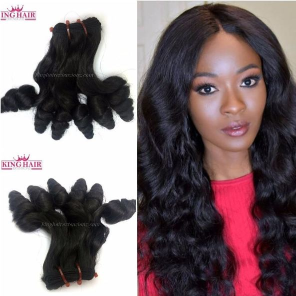 Using 18 inch SUPER DOUBLE VIETNAMESE HAIR FUNMI CURLY SF7 to look beautiful like her