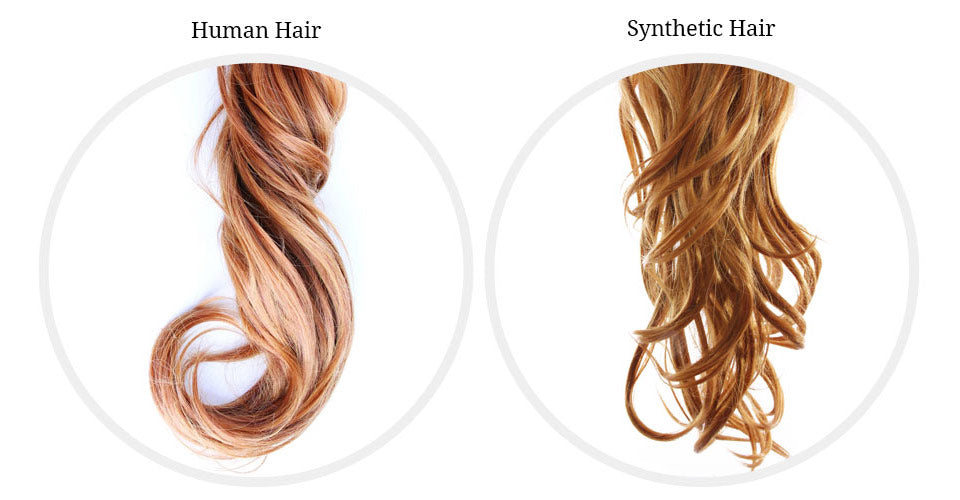 Human hair and synthetic fiber hair