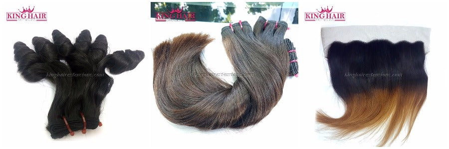 Many style and color you can choose: funmi hair, ombre frontal, natural color,...