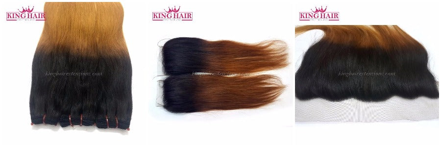 Ombre color hair from King Hair Extensions