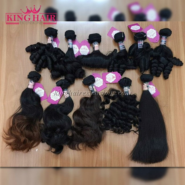 14 INCH VIETNAMESE FUNMI HAIR DOUBLE DRAWN - King Hair Extensions