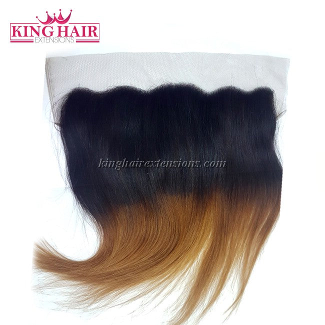 16 inch VIETNAM HAIR LACE FRONTAL STRAIGHT 13X4 OMBRE
