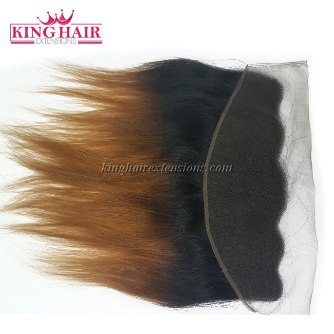 16 inch VIETNAM HAIR LACE FRONTAL STRAIGHT 13X4 OMBRE - King Hair Extensions