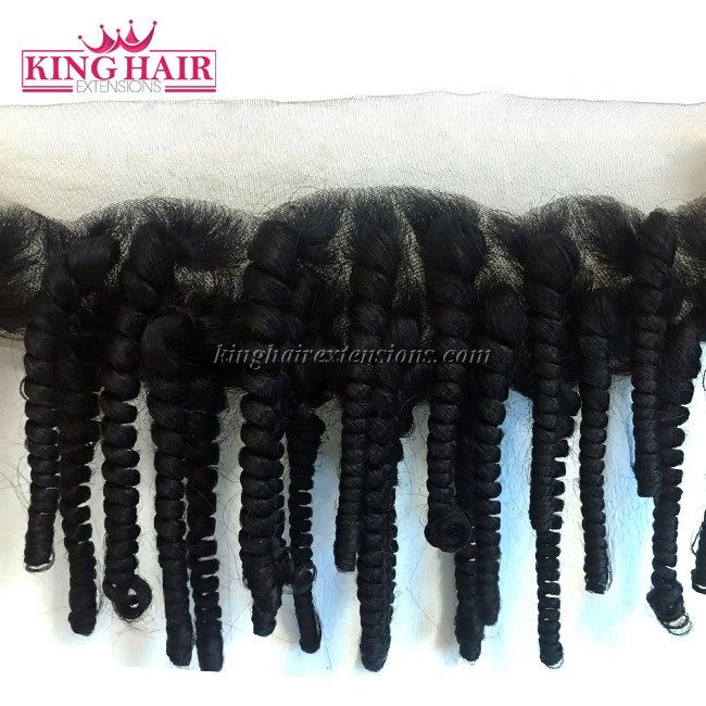 18 inch VIETNAM HAIR LACE FRONTAL CURLY 13X4 SC2