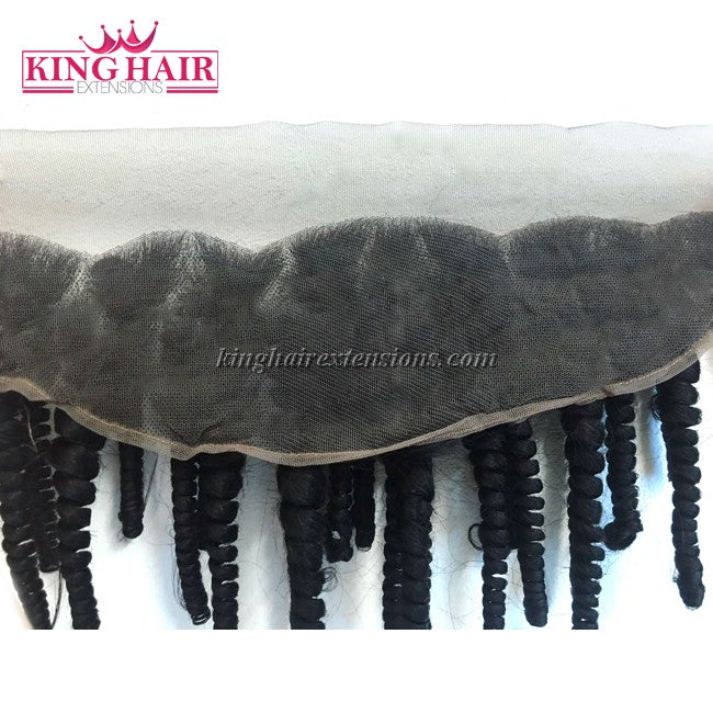 18 inch VIETNAM HAIR LACE FRONTAL CURLY 13X4 SC2 - King Hair Extensions
