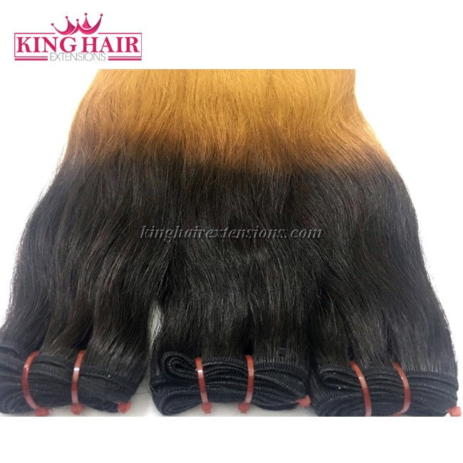18 inch SUPER DOUBLE VIETNAMESE HAIR STRAIGHT OMBRE STC3