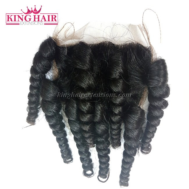 18 inch VIETNAM HAIR CURLY LACE CLOSURE 4X4 SC2