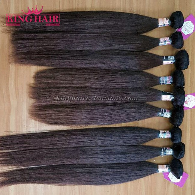 8 INCH VIETNAMESE HAIR STRAIGHT DOUBLE DRAWN - King Hair Extensions