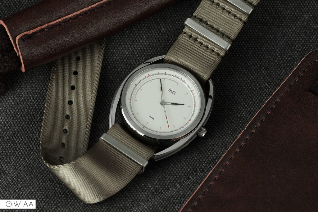 mhd watches sa2 heritage white dial on tan nato strap