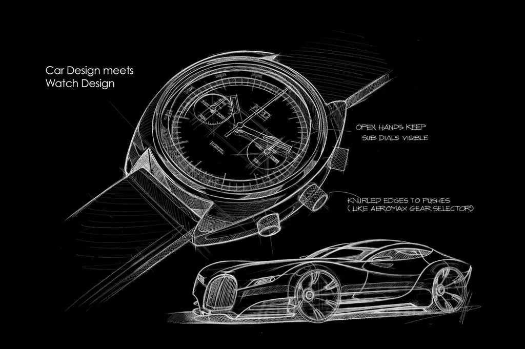 MHD Watches car design sketch