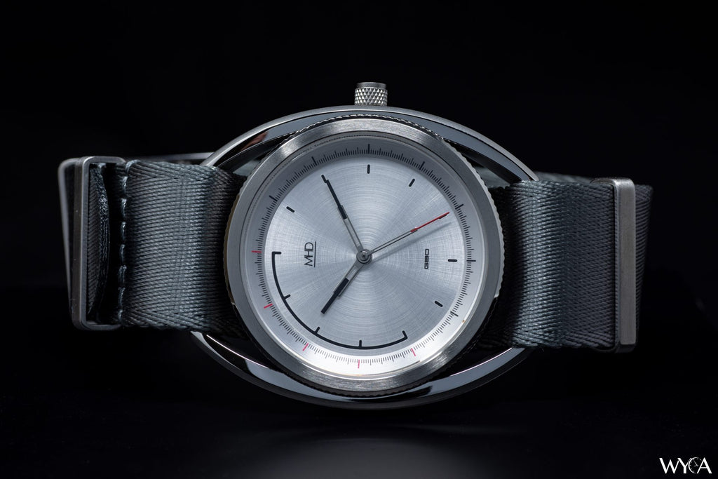 mhd watches SA2 steel dial on grey nato strap