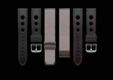 MHD Watches -  grand prix rally black calf leather watch straps.