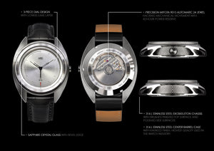 MHD Watches AGT silver dial spec