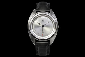 MHD AGT silver sun ray dial on black strap