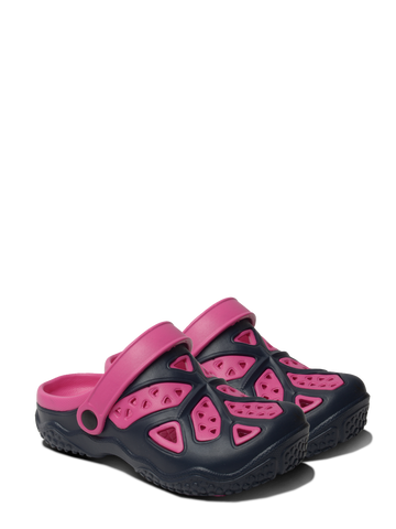 Kids Lightweight Clogs - Pink/Navy