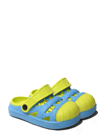 Kids Lightweight Sandals - Blue/Lime