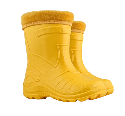 Kids Otter Gumboot - Yellow