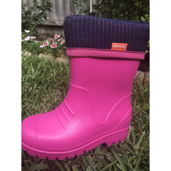 Demar Kids Dino Gumboot - pink
