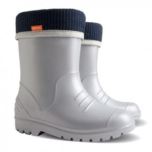 Demar Kids Dino Gumboot - silver
